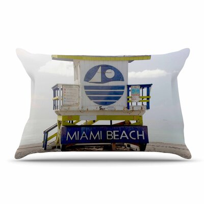 Philip Brown Miami Beach Lifeguard Pillow Case