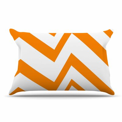 NL Designs Zigzag Pillow Case Color: Tangerine