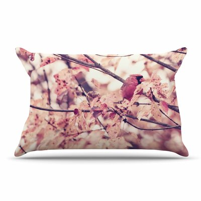 Qing Ji Angry Bird In Fall Leaves Nature Pillow Case