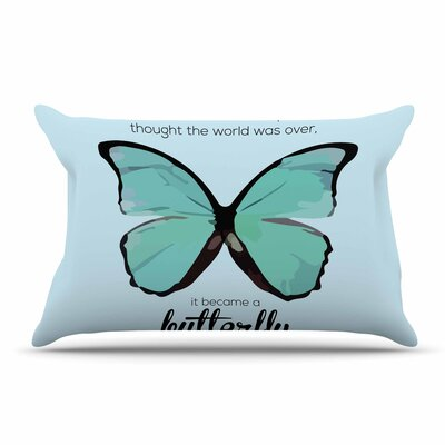 NL Designs Butterfly Quote Pillow Case