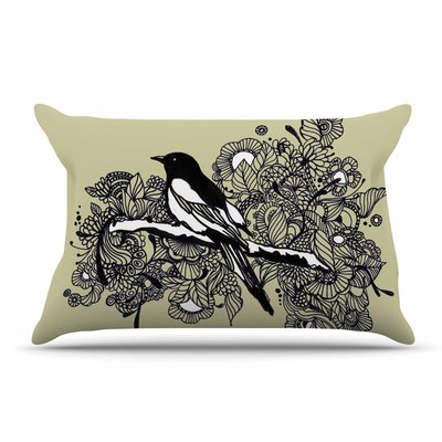 Sonal Nathwani Magpie Bird Pillow Case