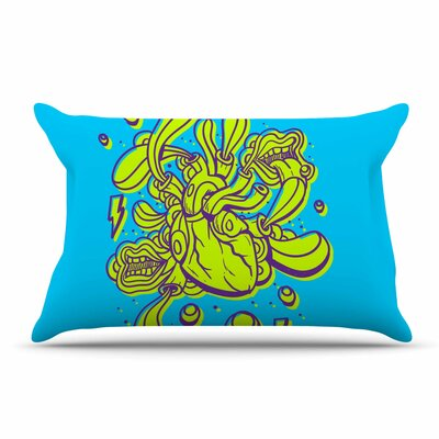 Roberlan Doodle Surreal Heart Pillow Case