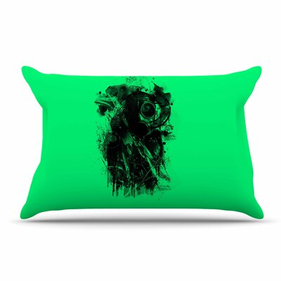 BarmalisiRTB 'Gasmask' Abstract Pillow Case