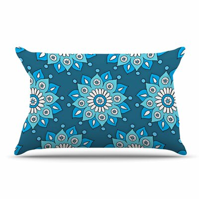Sarah Oelerich Flower Burst Pillow Case Color: Aqua