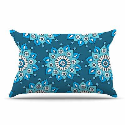 Sarah Oelerich Flower Burst Pillow Case Color: Aqua