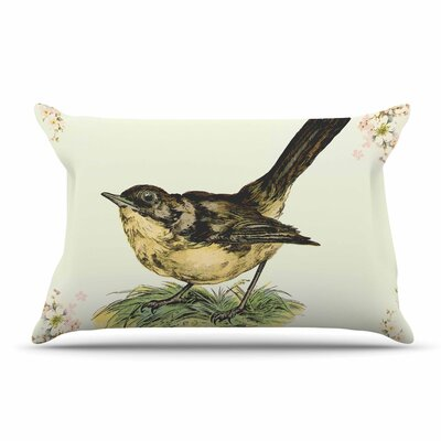 NL Designs 'Vintage Bird' Nature Pillow Case