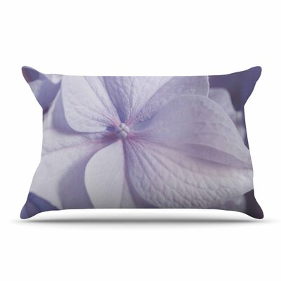 Suzanne Harford Pastel Purple Hydrangea Flower Floral Pillow Case