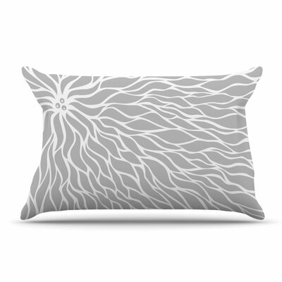 NL Designs Swirls Teal Pillow Case Color: Gray