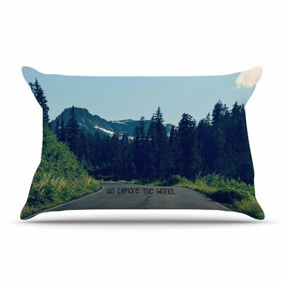 Robin Dickinson Go Explore The World Pillow Case