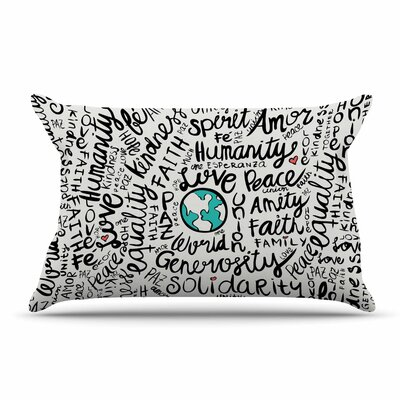 Pom Graphic Design Positive World Pillow Case