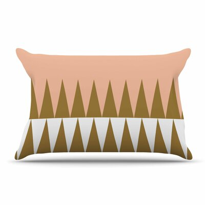 Suzanne Carter Peach Geo Peach Pillow Case