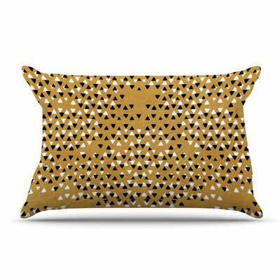 Pom Graphic Design Golden Sky Pillow Case Color: Gold