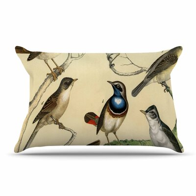 Suzanne Carter Vintage Birds Nature Pillow Case