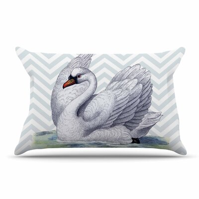 Suzanne Carter Vintage Swan Bird Pillow Case