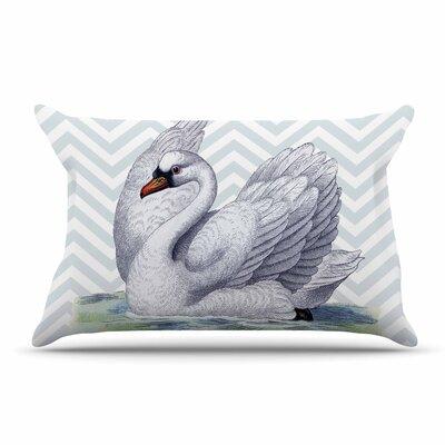 Suzanne Carter Vintage Swan Bird Pillow Case