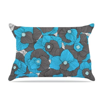 Skye Zambrana In Bloom Pillow Case Color: Blue/Gray