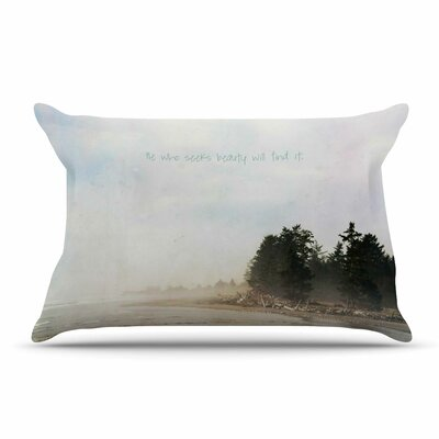 Robin Dickinson He Who Seeks Beauty Coastal Pillow Case