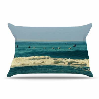 Robin Dickinson Break Free & Soar Ocean Wave Pillow Case