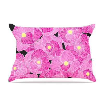 Skye Zambrana In Bloom Pillow Case Color: Pink