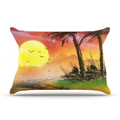 Infinite Spray Art Maui Sunrise Beach Pillow Case