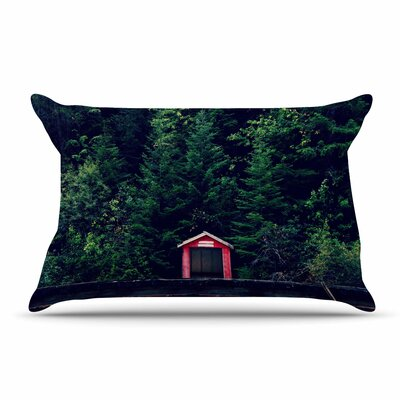 Robin Dickinson Red In Woods Forest Pillow Case