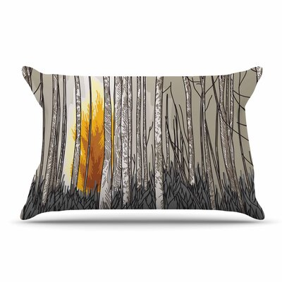 Sam Posnick Smokey Forest Fire Pillow Case