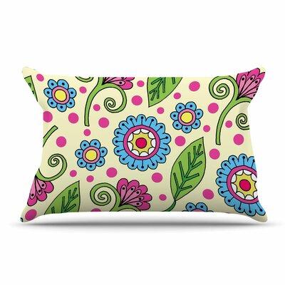 Sarah Oelerich Polka Dot Garden Floral Pillow Case
