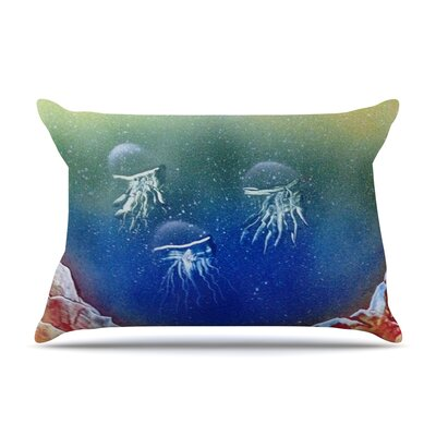 Infinite Spray Art Underwater Aliens Jellyfish Pillow Case