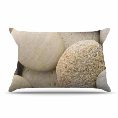 Susan Sanders River Stones Pillow Case