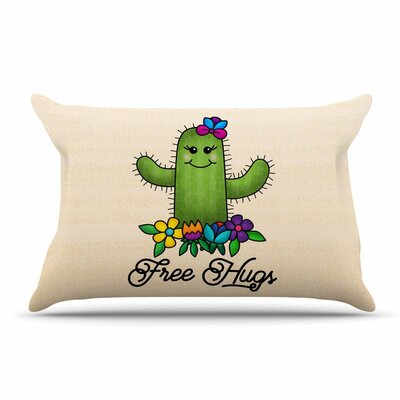 Noonday Design Free Hugs Cactus Pastel Pillow Case