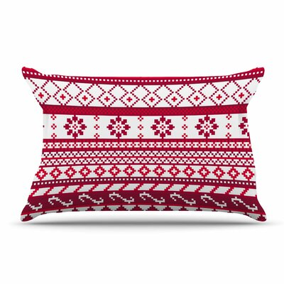Noonday Design Red Fairisle Christmas Pillow Case