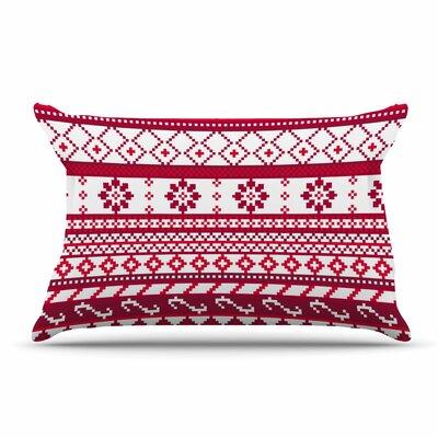 Noonday Design Red Fairisle Christmas Pillow Case