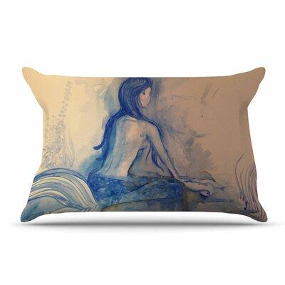 Theresa Giolzetti Mer-Maid? Huh... Coral Pillow Case