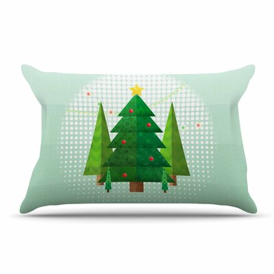 Noonday Design Geometric Christmas Tree Pillow Case