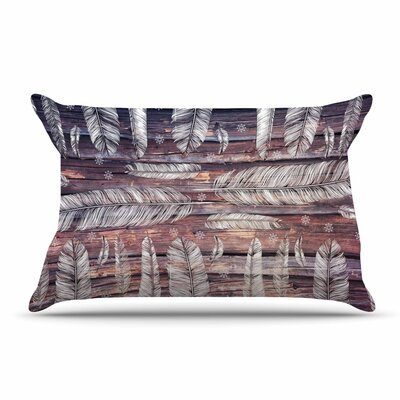 Suzanne Carter Snowflakes And Feathers Pillow Case