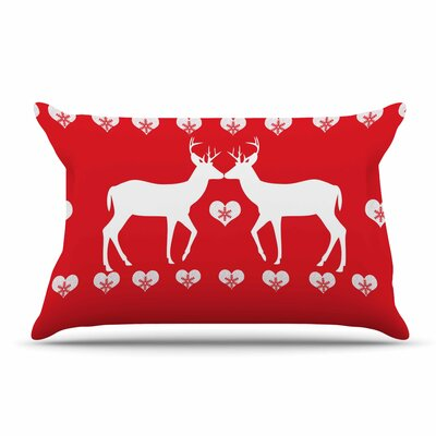 Suzanne Carter Christmas Deer 2 Holiday Pillow Case