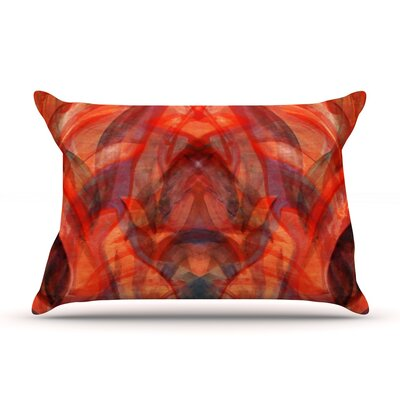 Theresa Giolzetti Seaweed Red Abstract Pillow Case