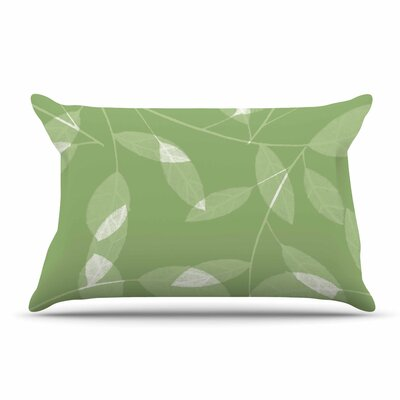 Alison Coxon Leaf Tawny Pillow Case Color: Green