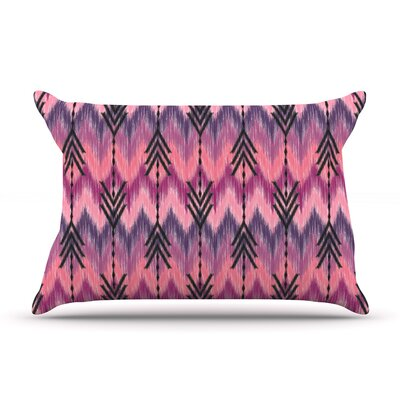 Amanda Lane Indigo Orchid Chevron Arrows Pillow Case