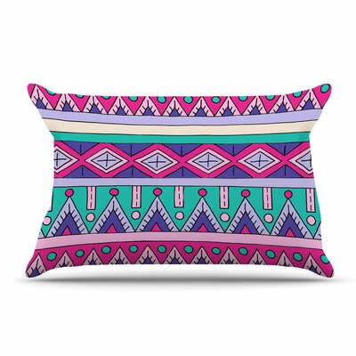 Sarah Oelerich Teal Tribal Pillow Case