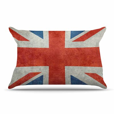 Bruce Stanfield Uk Union Jack Flag Pillow Case