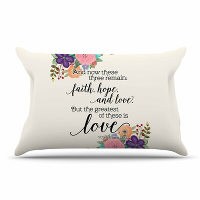Noonday Design Faith, Hope, And Love Pillow Case