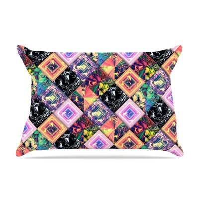 Danny Ivan 'Never Run Away' Geometric Pillow Case