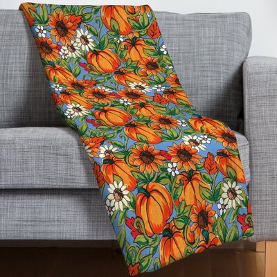 Pumpkin Harvest Throw Blanket
