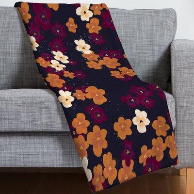 Blooms of Mini Pansies Throw Blanket