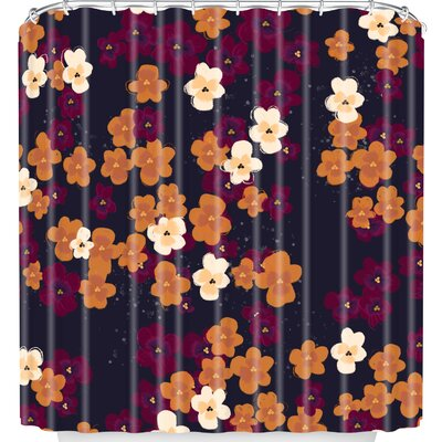 Blooms of Mini Pansies Shower Curtain