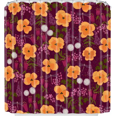 Dandelions and Wild Pansies Shower Curtain