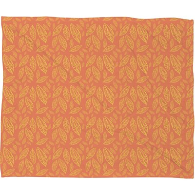 Fall Leaves Pattern Throw Blanket