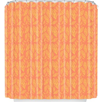 Fall Leaves Pattern Shower Curtain