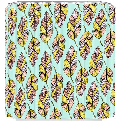 Allyson Johnson Native Feathers Shower Curtain